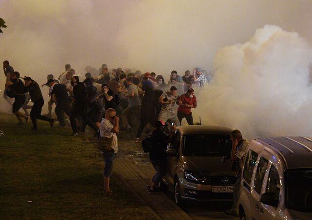 Manifestation à Minsk, 9 août 2020