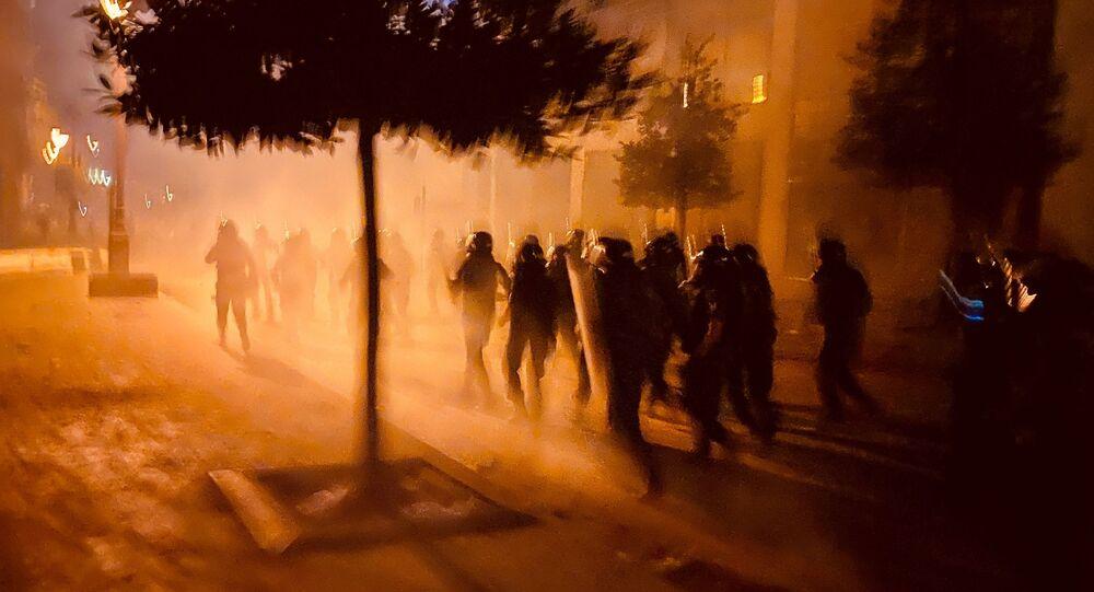 Protestation à Beyrouth, le 9 août 2020