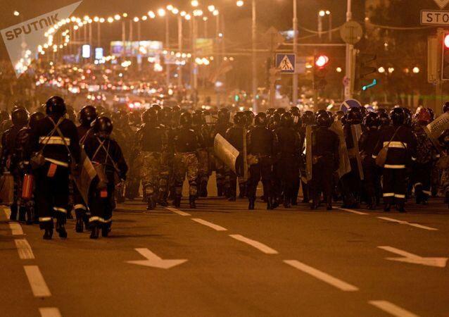 Manifestation à Minsk, 10 août 2020
