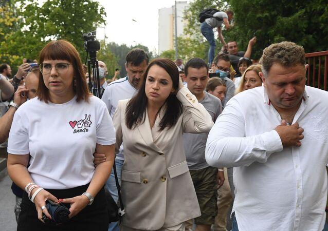 L'opposante principale à Loukachenko, Svetlana Tikhanovskaïa