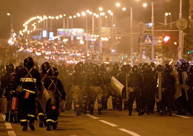 Situation à Minsk, le 11 août 2020