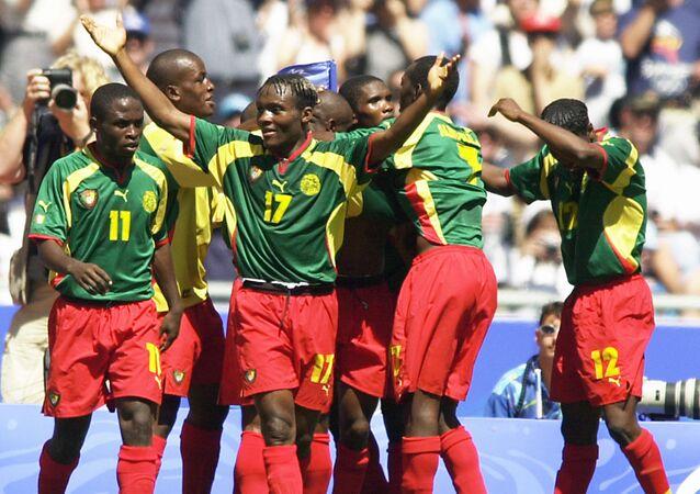 Les Lions du Cameroun lors des Jeux olympiques de Sydney en 2000.