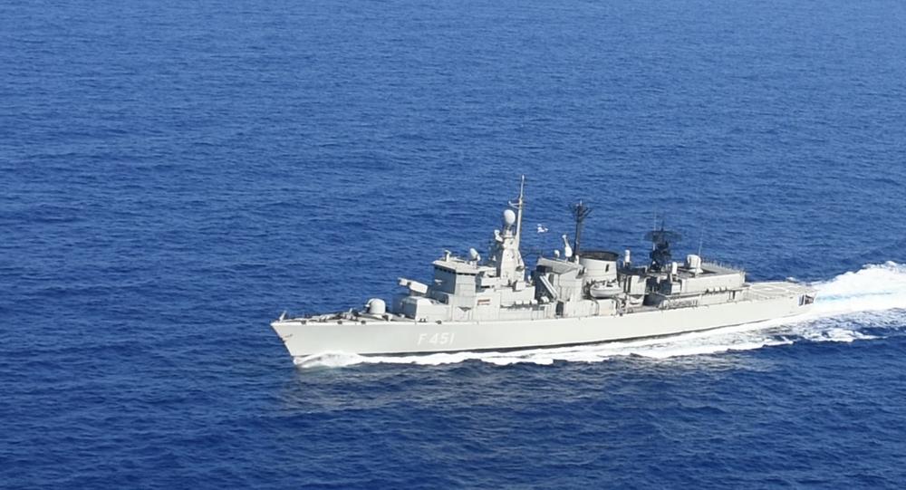 Exercices en mer Méditerranée de la marine grecque