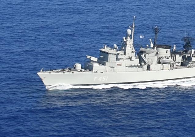 Exercices en mer Méditerranée, le 13 août 2020