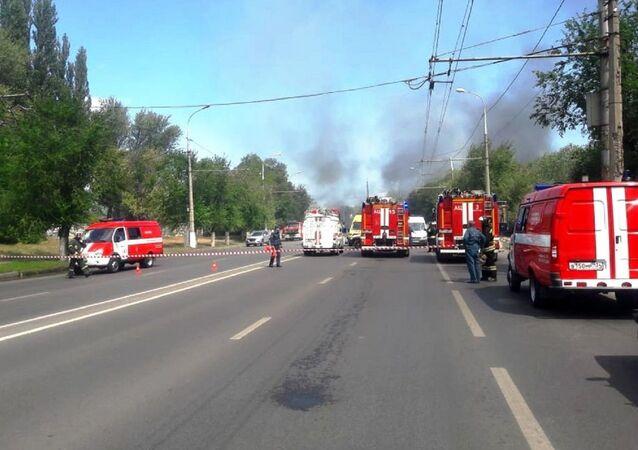 Une station-service explose à Volgograd