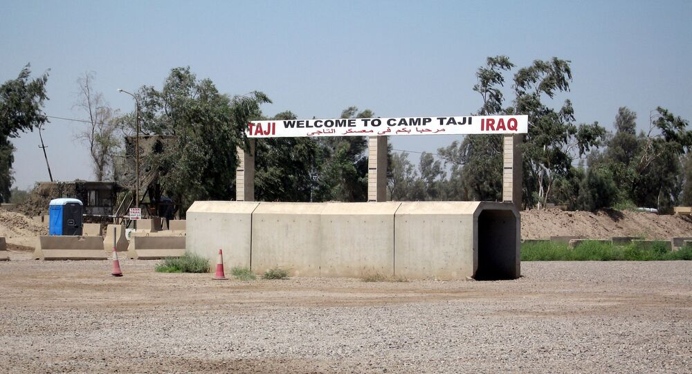 L'entrée de la base de Taji (archive photo)