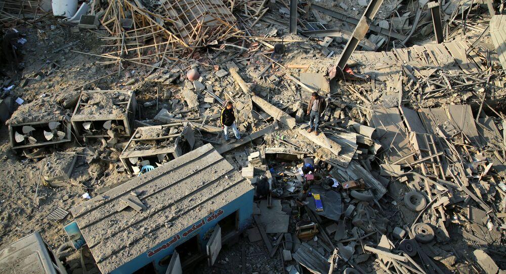 Conséquences d'une frappe sur la bande de Gaza