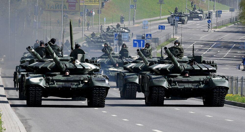 Des chars biélorusses (photo d'archives)