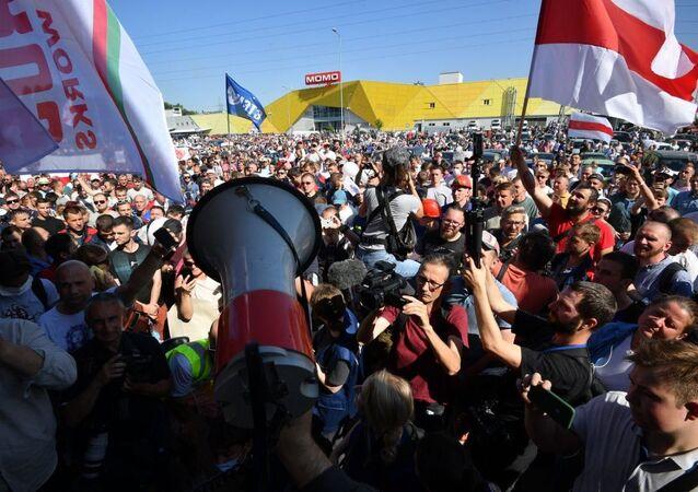 une manifestation en Bélorussie