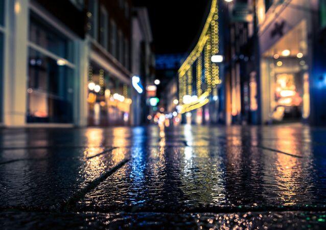 Une ville nocturne (image d'illustration)