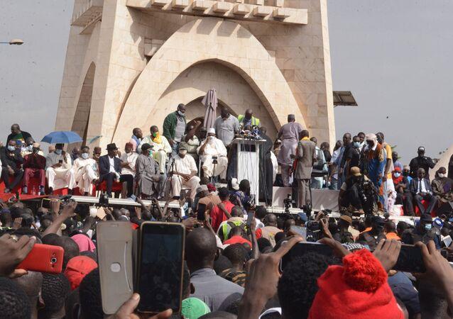 Manifestation du M5-RFP du 5 juin 2020 à Bamako (Mali).