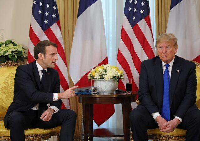 Emmanuel Macron et Donald Trump à Londres