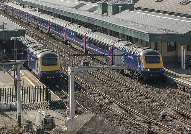 Train à grande vitesse. Image d'illustration