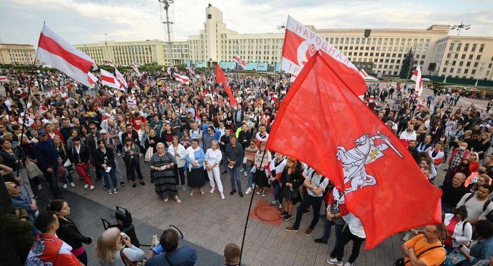Manifestation à Minsk, le 20 août