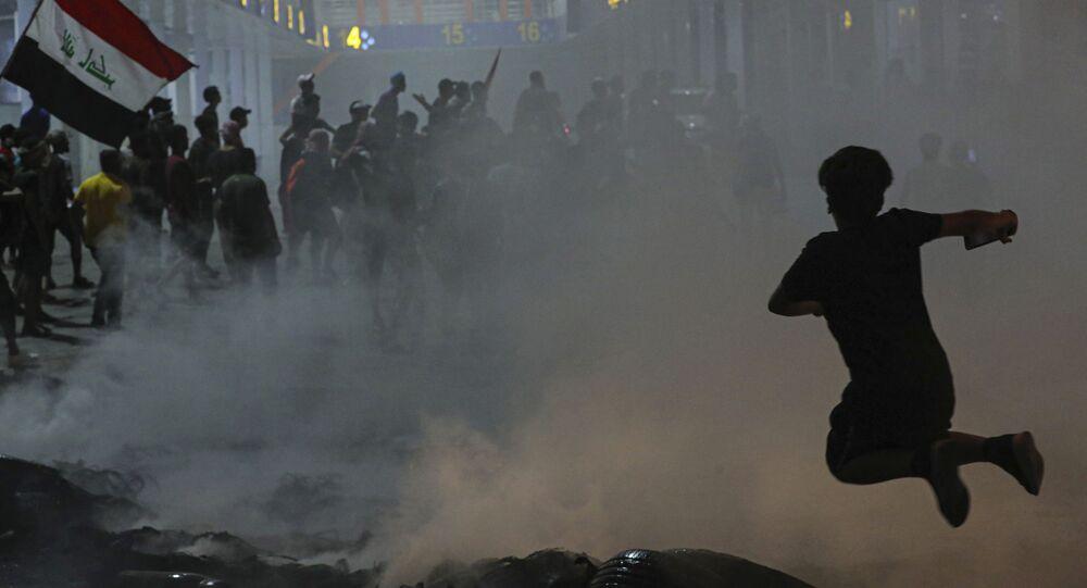 Protestations en Irak. Image d'illustration