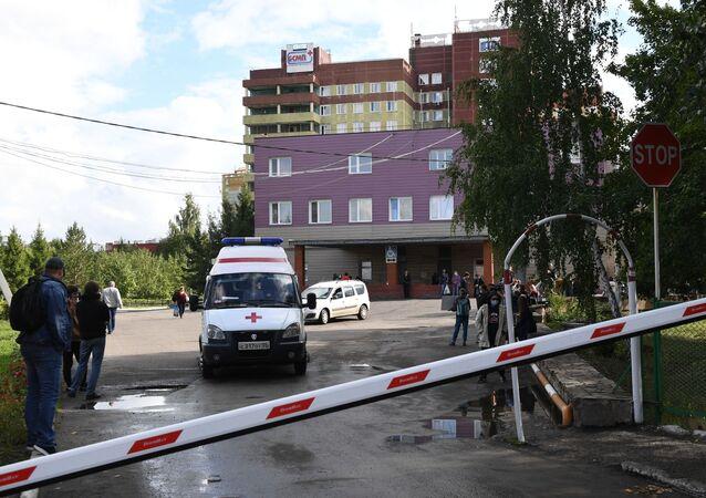L'hôpital d'Omsk où se trouvait Alexeï Navalny