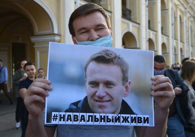 Une action de soutien à Navalny à Saint-Pétersbourg / image d'illustration