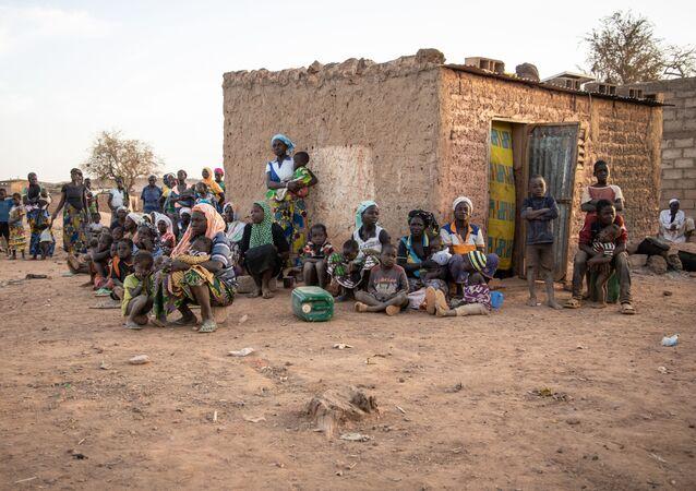 Un camp de réfugiés au Birkina Faso