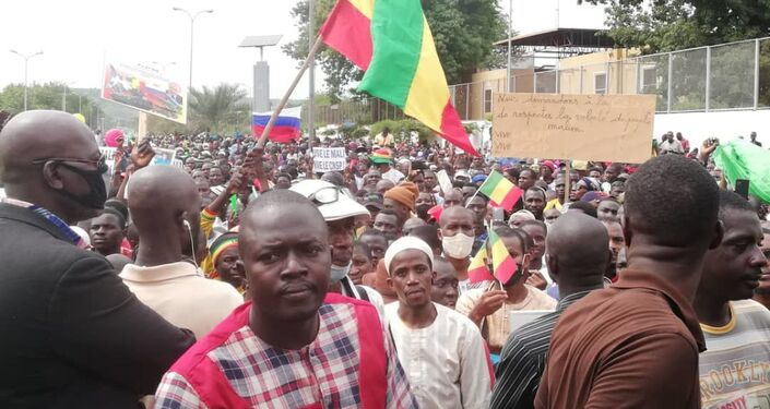 Manifestants à Bamako