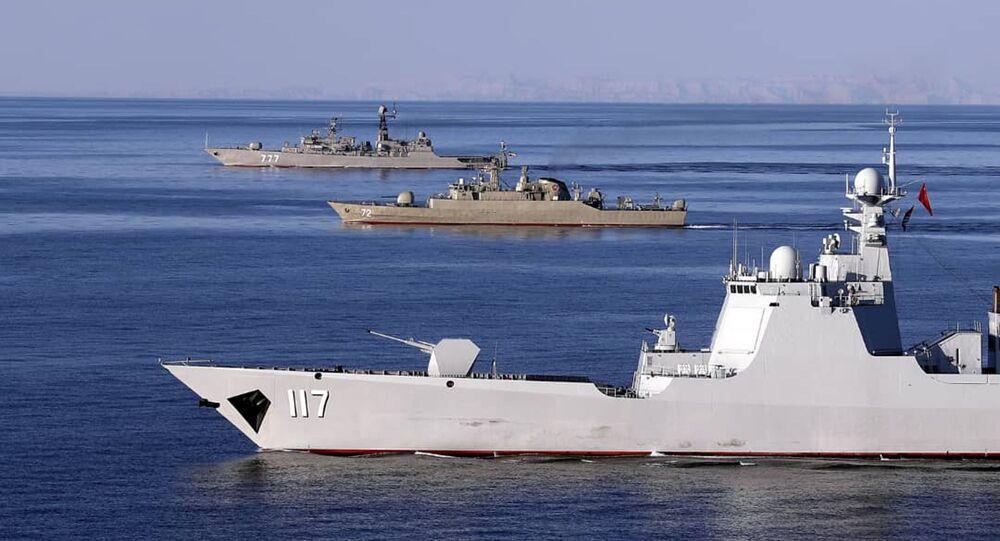Manœuvres militaires conjointes de l'Iran, de la Russie et de la Chine dans l'océan Indien et le golfe d'Oman
