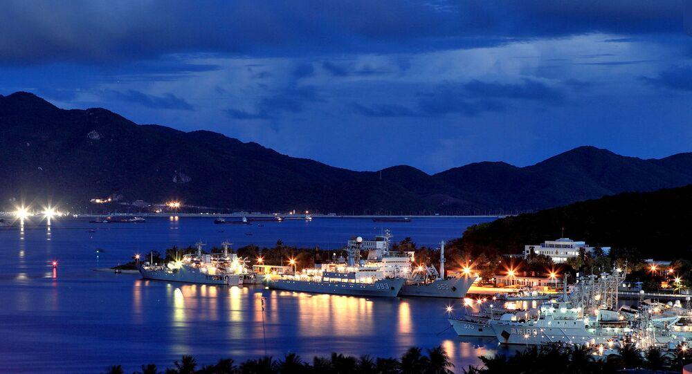 La partie sud-ouest de la base navale chinoise de Yulin (archive photo)