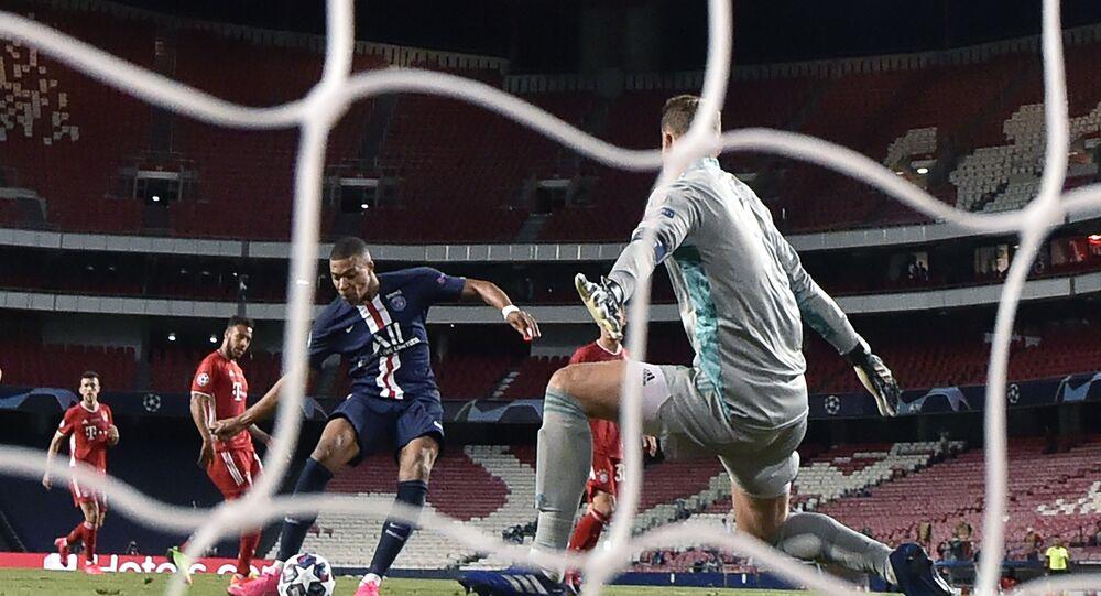 Kylian Mbappé en finale de Ligue des champions