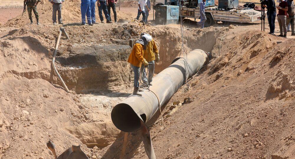 Réparation du gazoduc en Syrie après une attaque de nuit