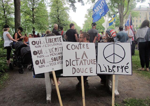 La protestation contre la prolongation des mesures sanitaires se poursuit au Québec