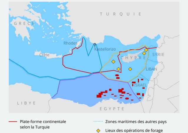 Frontières maritimes entre la Turquie et la Grèce en Méditerranée