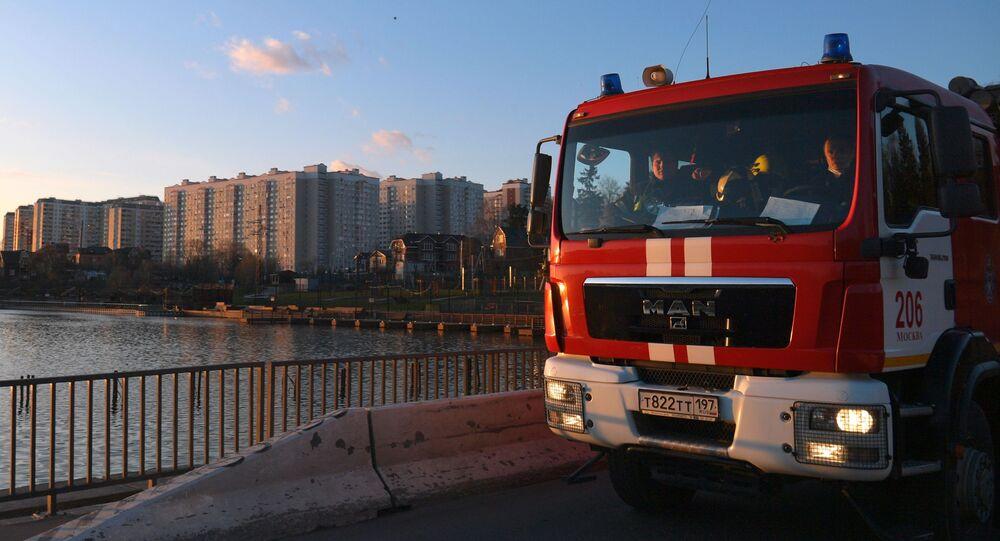 Véhicule de pompiers, Moscou / image d'illustration