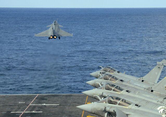 Un Rafale français en Méditerranée, le 10 février 2020