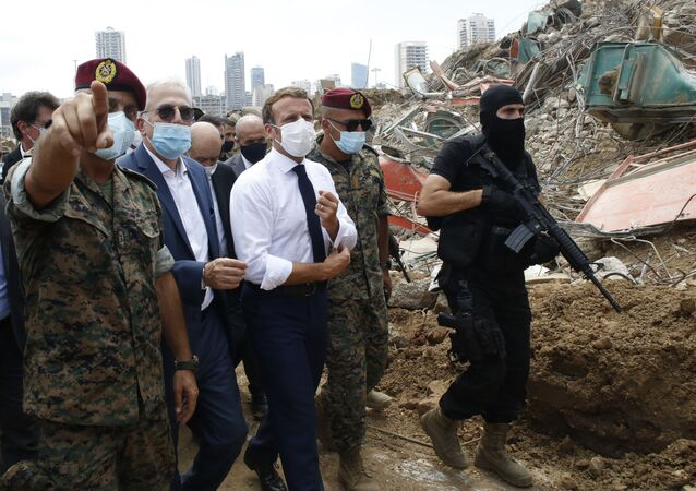 Emmanuel Macron au Liban, août 2020