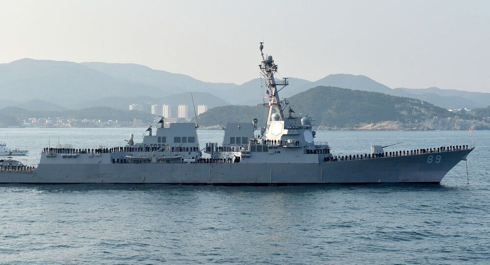 Destroyer USS Mustin