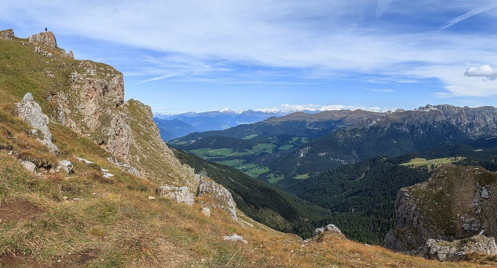 Dans les montagnes du Sud-Tyrol, Italie