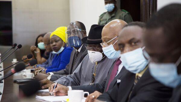La délégation de la Cedeao venue rencontrer la junte militaire malienne après le coup d'État à Bamako. - Sputnik France