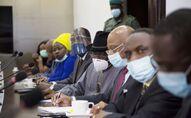 La délégation de la Cedeao venue rencontrer la junte militaire malienne après le coup d'État à Bamako.
