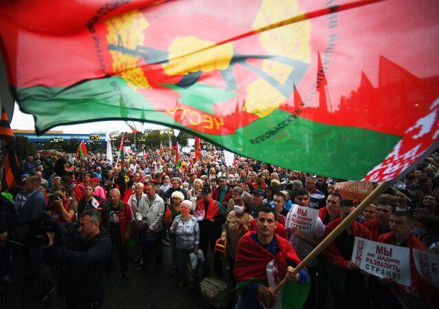 Une manifestation de soutien à Alexandre Loukachenko à Minsk (archive photo)