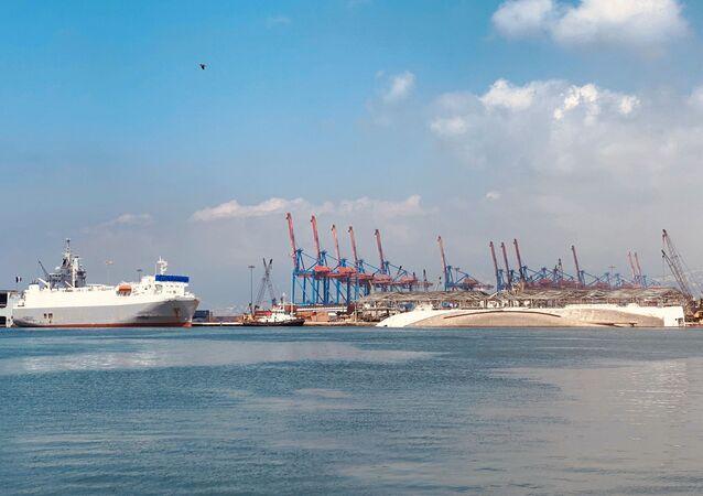 Port de Beyrouth après l'explosion