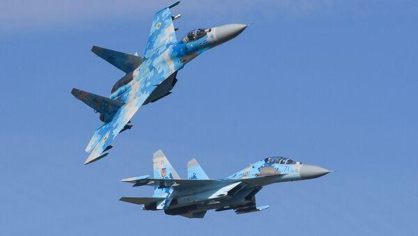 Des Su-27 de l'Armée de l'air ukrainienne (archive photo) - Sputnik France