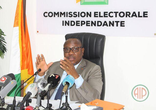 Le président de la CEI, Ibrahime Kuibiert-Coulibaly