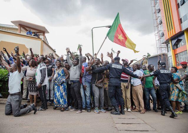 Les partisans de Maurice Kamto, leader de l'opposition au Cameroun
