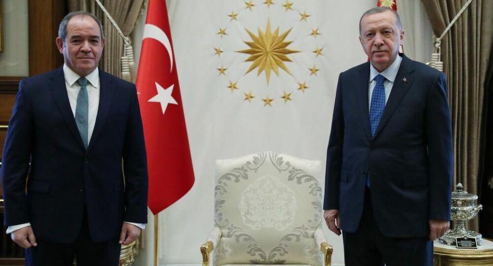 Recep Tayyip Erdogan et Sabri Boukadoum lors de la visite officielle de ce dernier en Turquie
