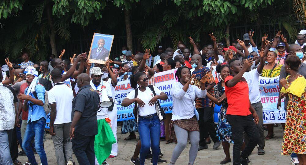 Mobilisation en faveur de la candidature de Laurent Gbagbo pour l'élection présidentielle ivoirienne