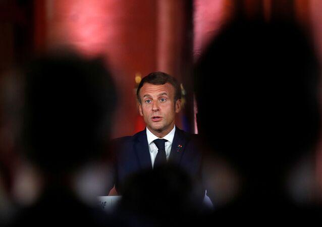 Emmanuel Macron à Beyrouth, le 1er septembre 2020