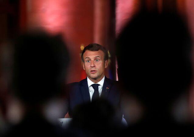Emmanuel Macron lors de la conférence de presse à Beyrouth, 1er septembre 2020