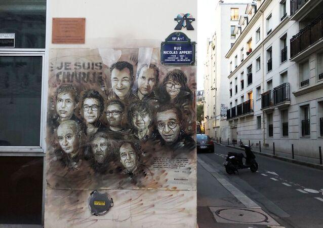 Une fresque en hommage aux victimes de l'attentat de Charlie Hebdo