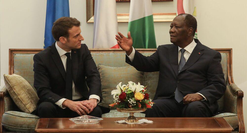 Emmanuel Macron et Alassane Ouattara