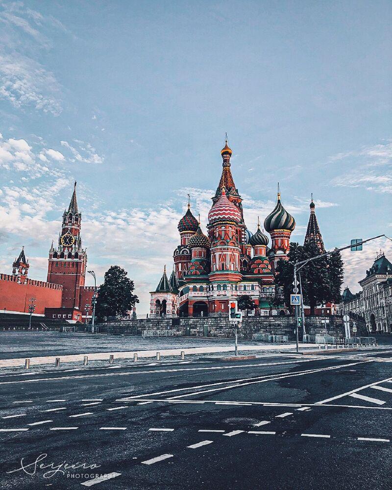 Сathédrale de l'Intercession-de-la-Vierge et Kremlin de Moscou