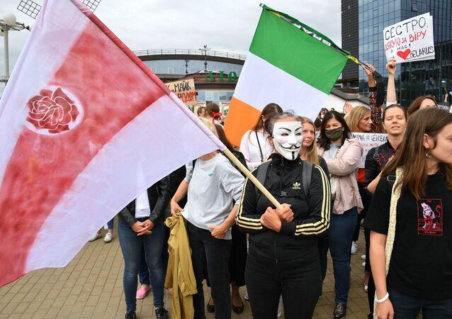 Une manifestation de femmes à Minsk (5 septembre 2020)