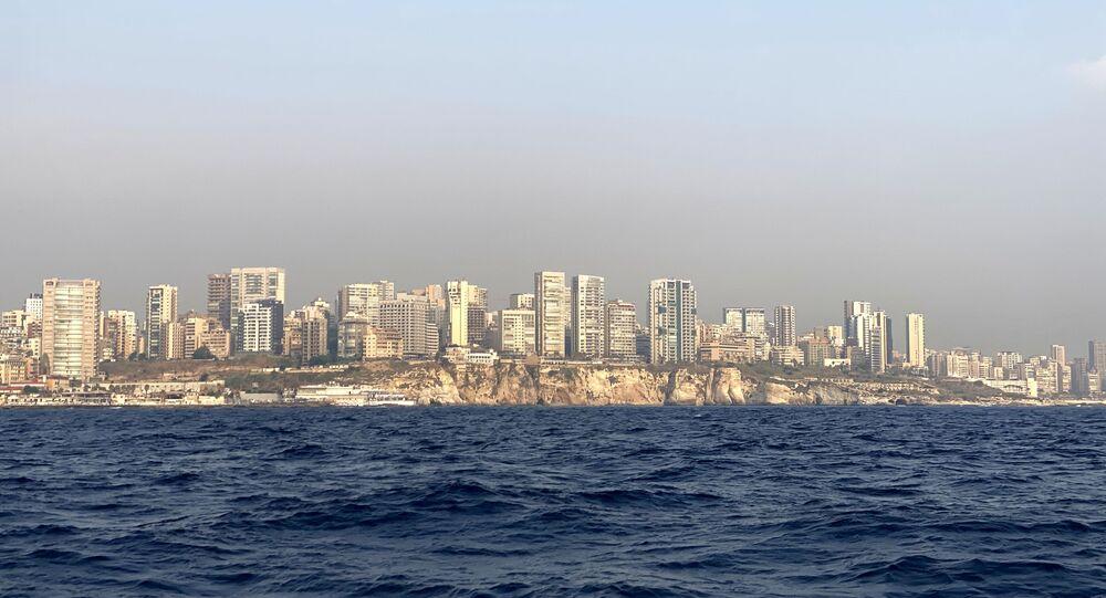Vue sur Beyrouth depuis la mer